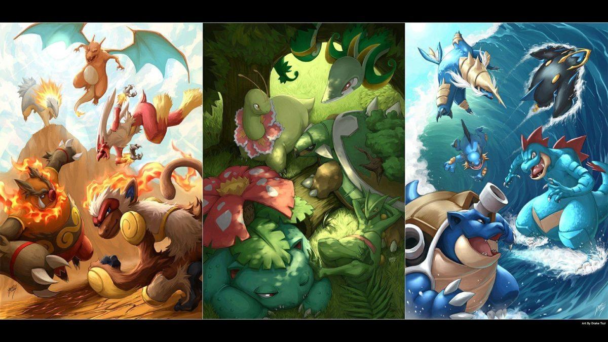Download Pokemon Starters Wallpaper 1920×1080 | Full HD Wallpapers