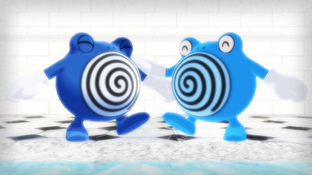 MMD PK Poliwhirl DL by 2234083174 on DeviantArt