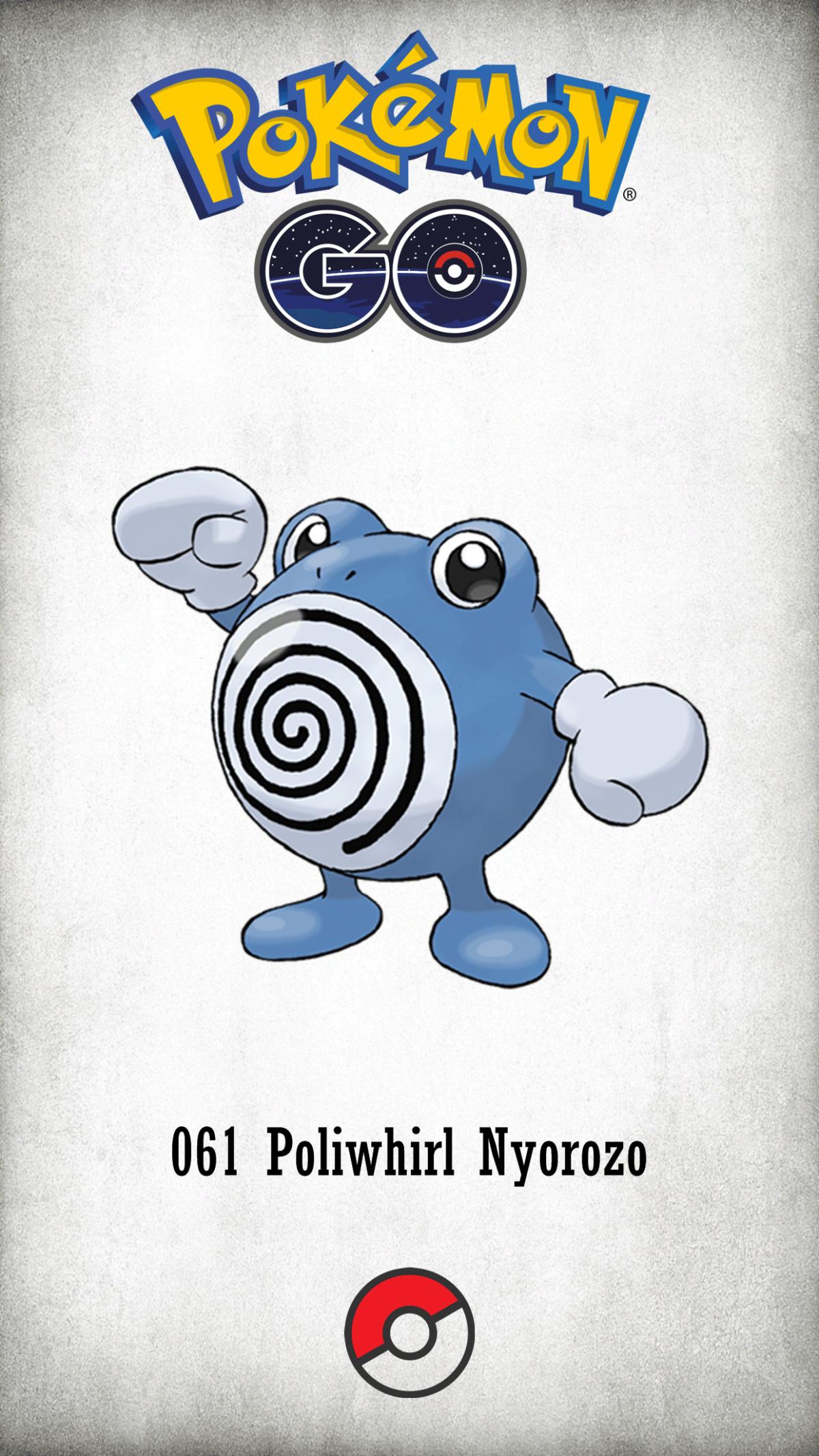 061 Character Poliwhirl Nyorozo | Wallpaper