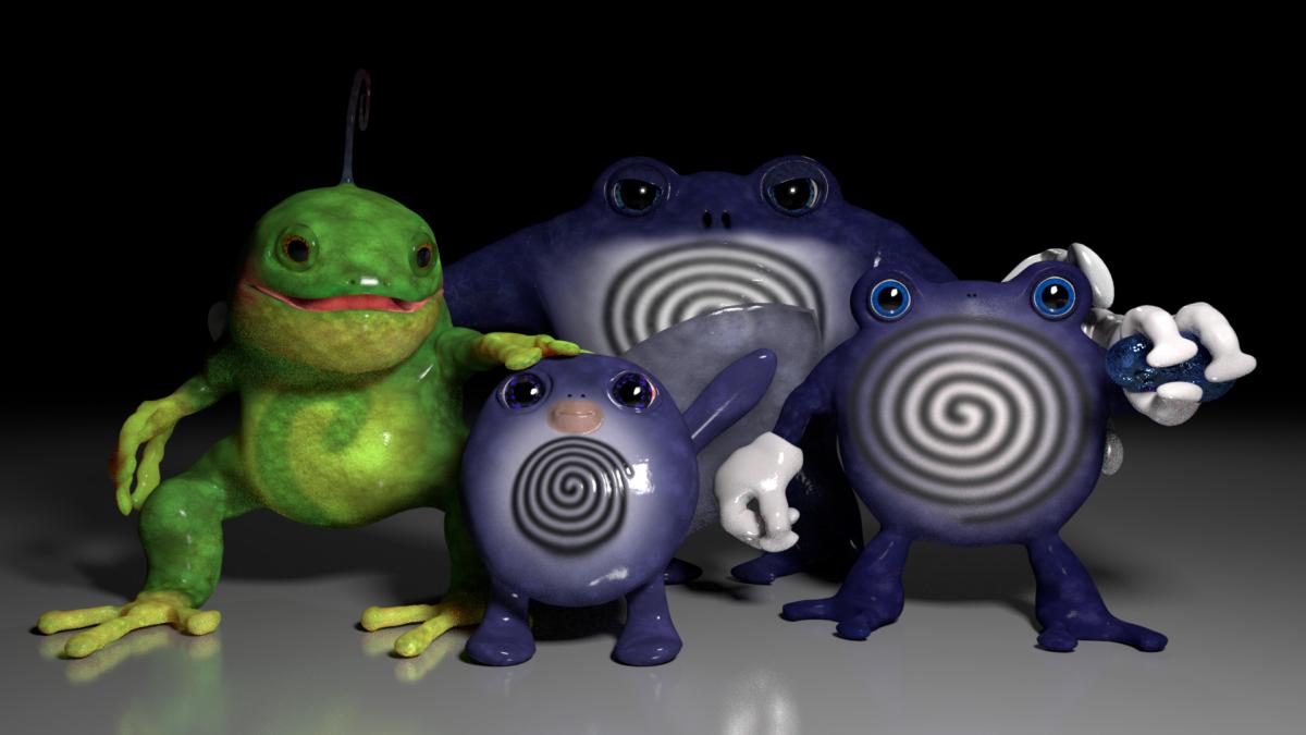 Blender 3d Models: Poliwag Evolutions by alewism on DeviantArt