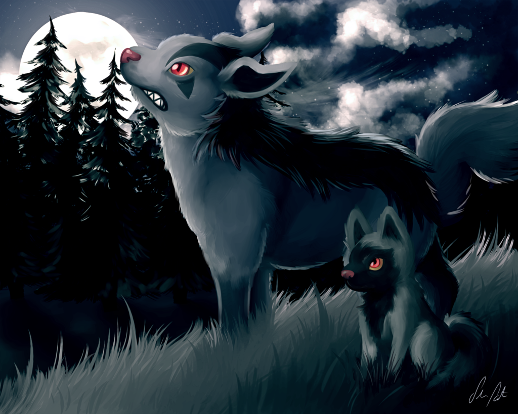 Cold night by Eksploud.deviantart.com on @deviantART (Mightyena …