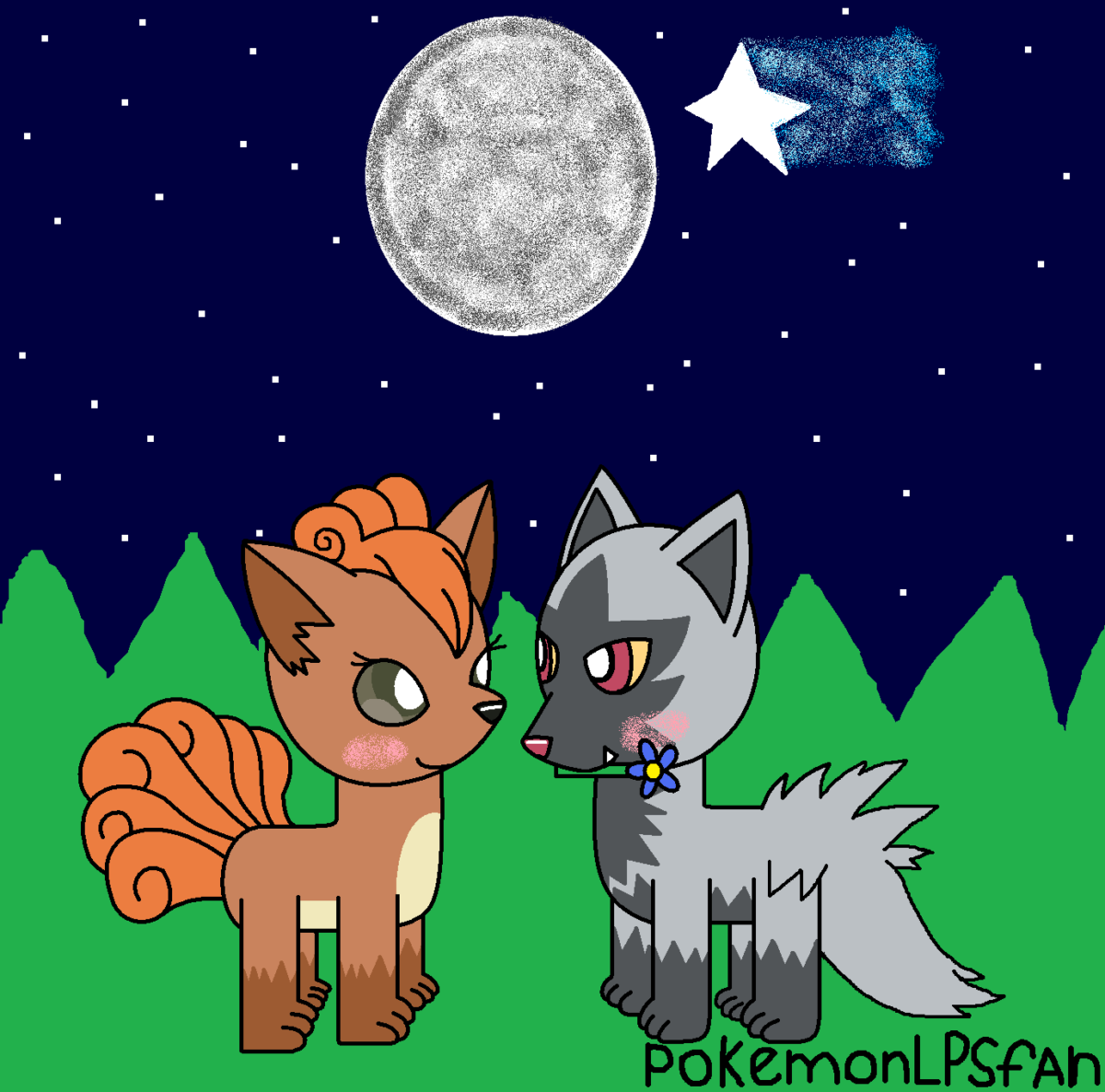 vulpix and poochyena in love by pokemonlpsfan on DeviantArt