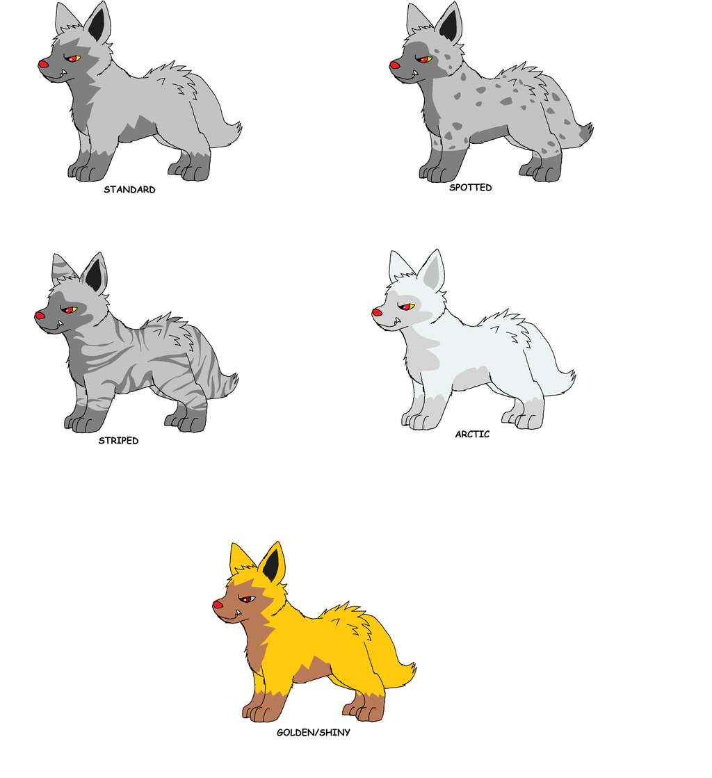 Poochyena Variations by XfangheartX on DeviantArt