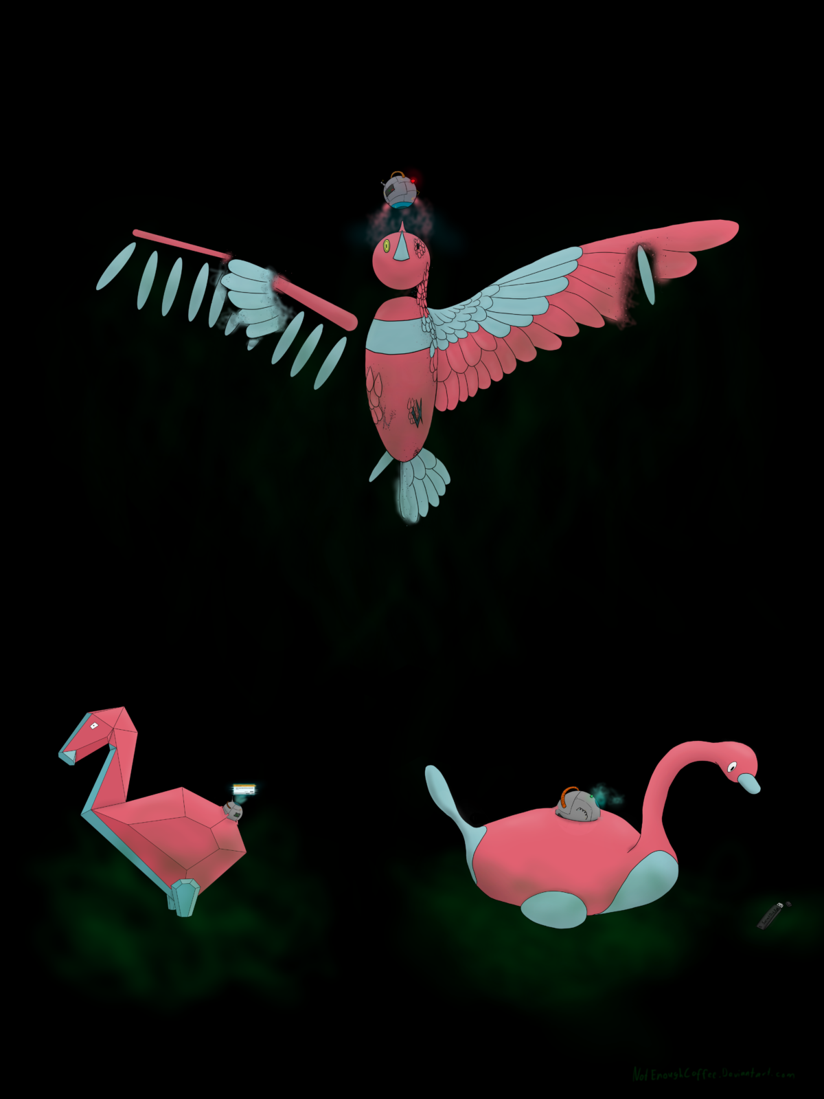 Semi realistic porygon evolution line by NotEnoughCoffee on DeviantArt