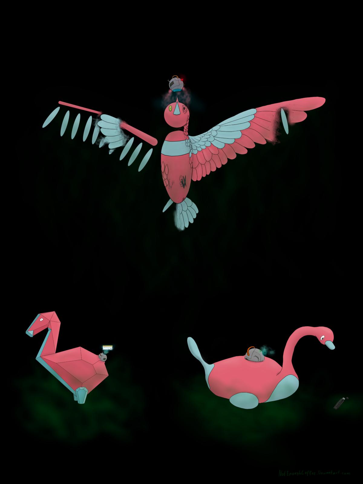 Semi realistic porygon evolution line by NotEnoughCoffee on DeviantArt