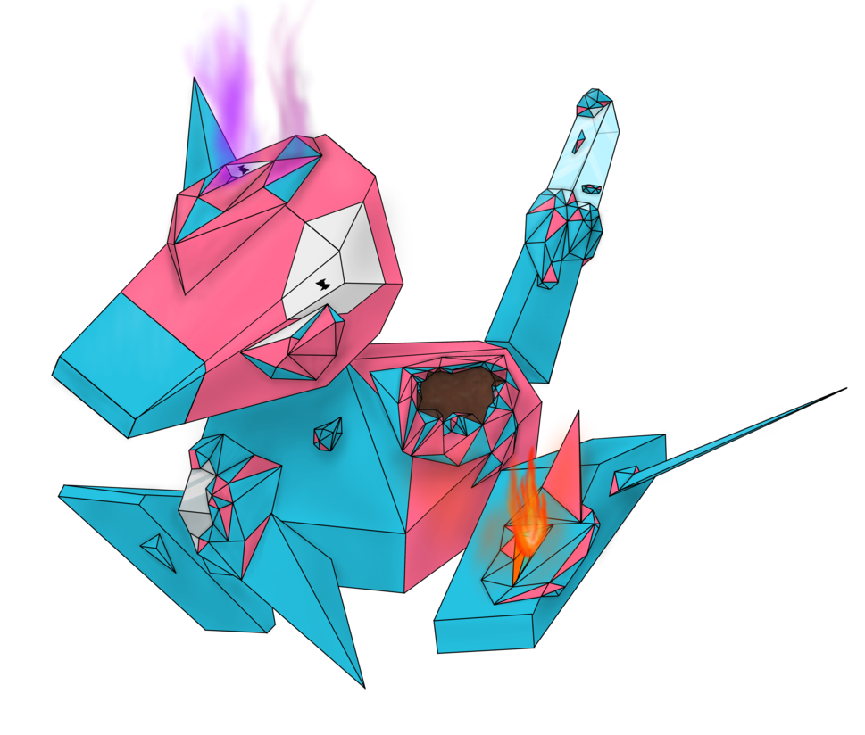 Porygon! Use conversion 2! by NotEnoughCoffee on DeviantArt