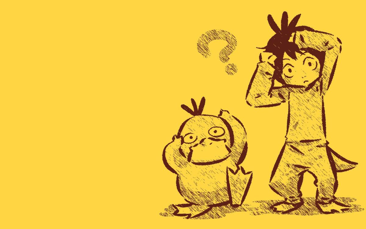Pokemon Psyduck anime simple background Hitec wallpaper | 1440×900 …