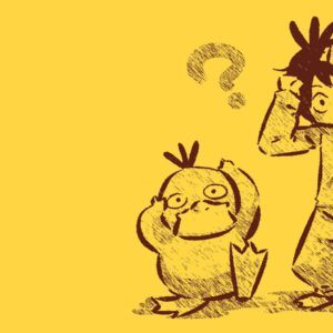 download Pokemon Psyduck anime simple background Hitec wallpaper | 1440×900 …