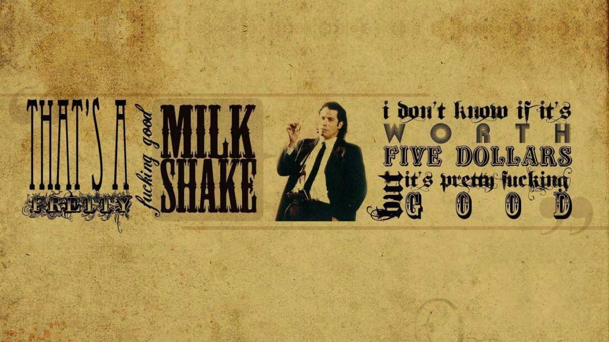 Pulp Fiction Typography [1366×768] | | Wallpaper 1366×768