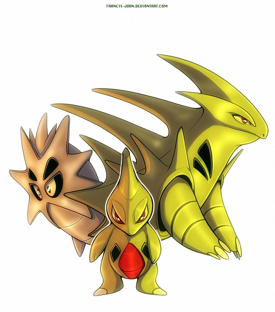 Larvitar Pupitar and Tyranitar by francis-john on DeviantArt