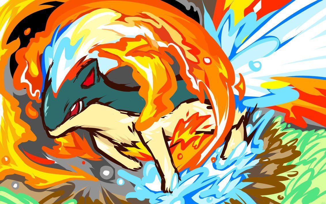 Quilava | Flame Wheel by ~ishmam on deviantART | Pokemon …