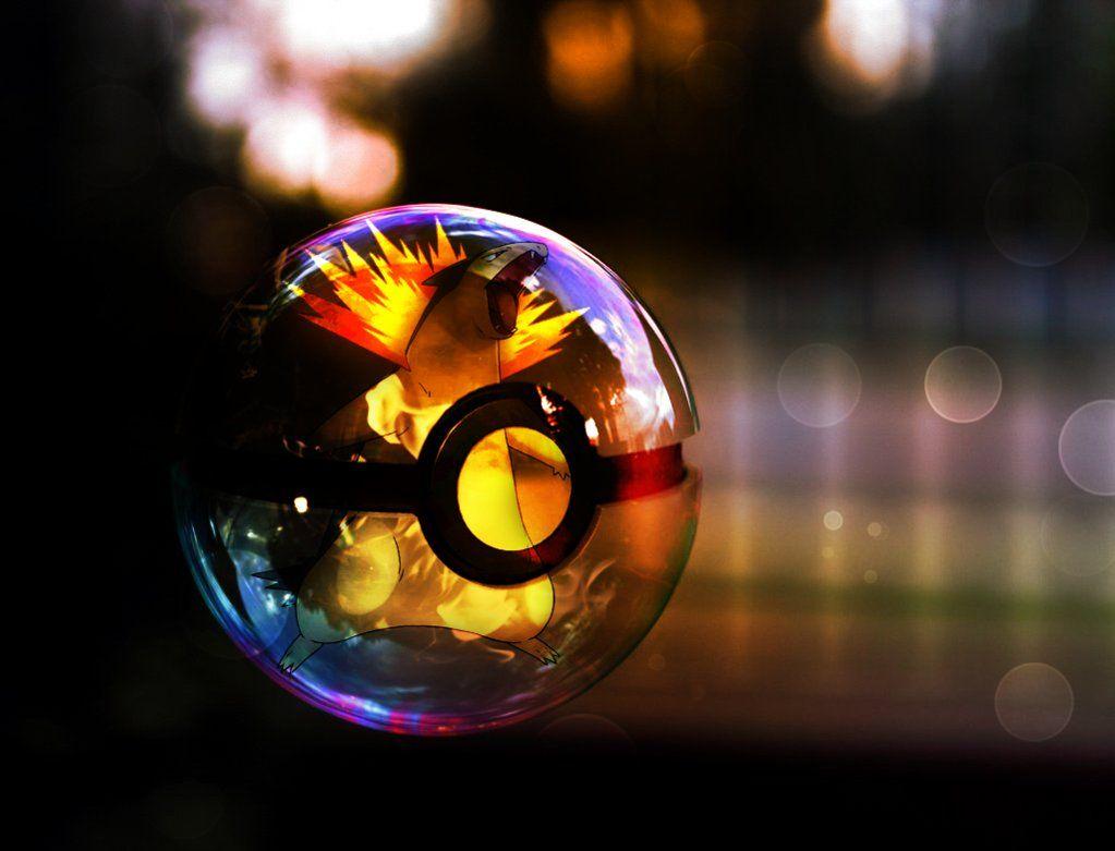 Typhlosion pokeball by sashabunnybutt on DeviantArt