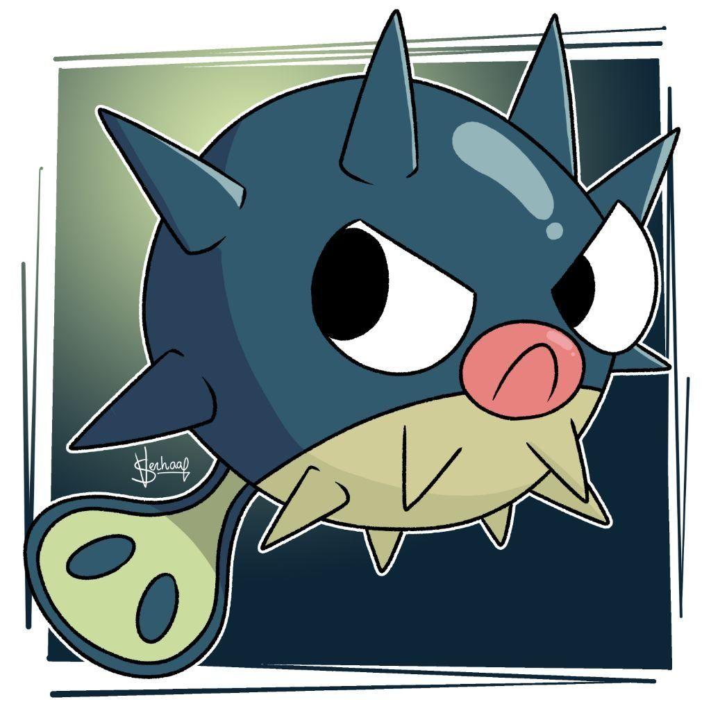 Digital] Qwilfish (My Art) | Pokémon Amino