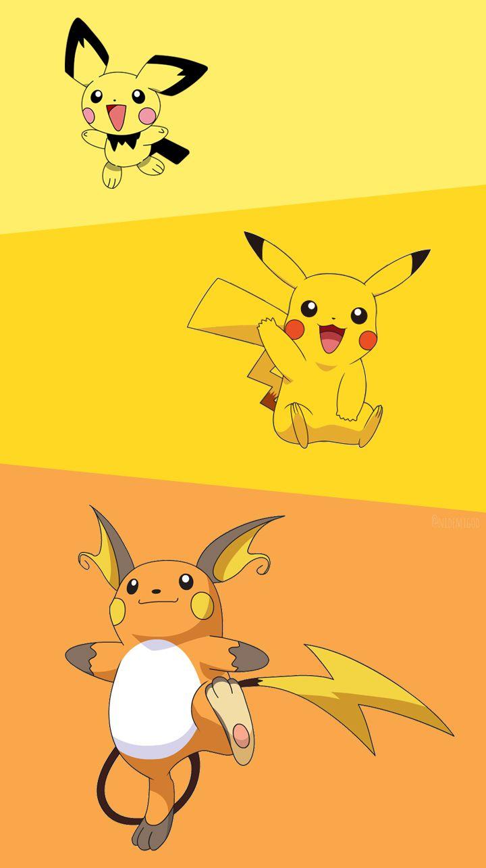 Wallpaper Pichu,Pikachu and Raichu by Nidemigod on DeviantArt