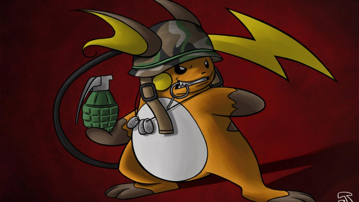 pokemon helmet raichu grenade camouflage dogtags #742541