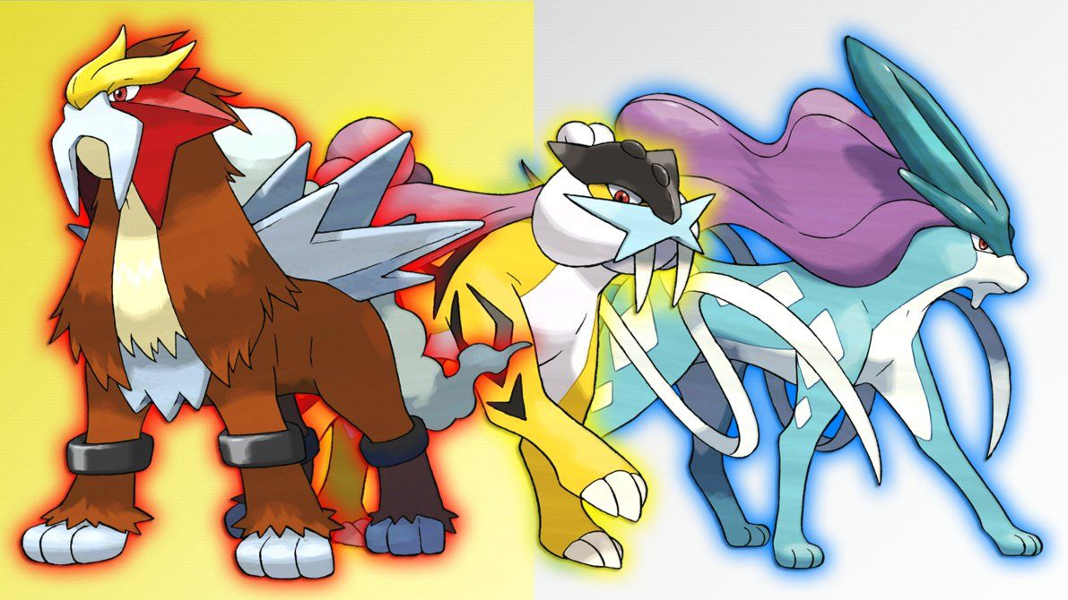 Entei, Raikou and Suicune Wallpaper by Glench on DeviantArt