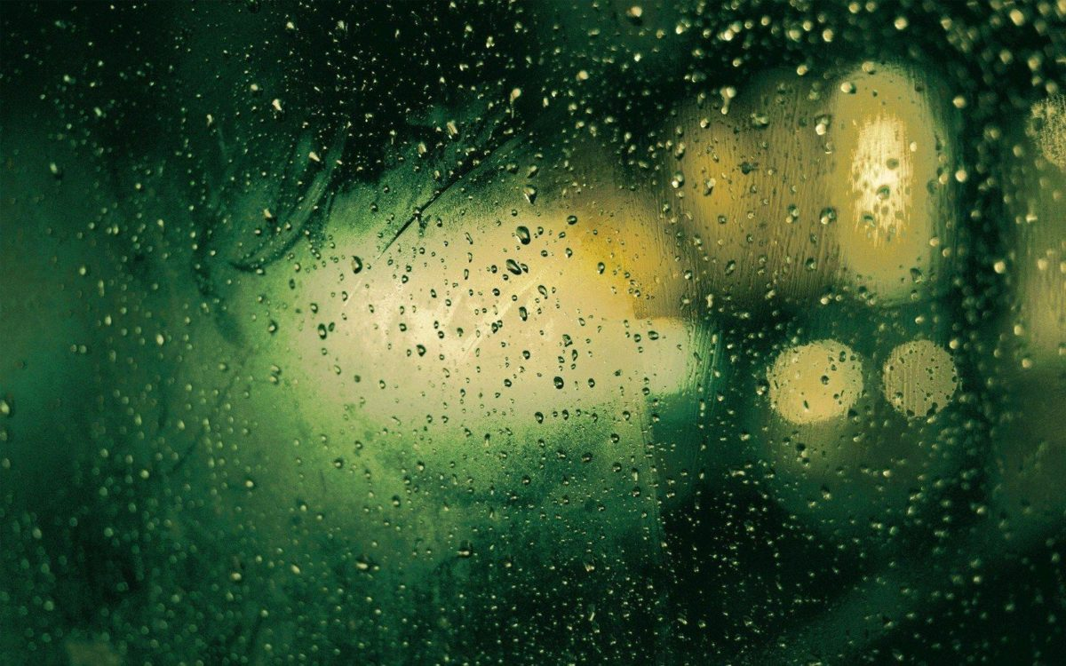 Window Rain Drops Night Lights HD Wallpaper – ZoomWalls