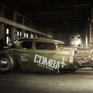 download milton motors combat rat rod muscle car wide hd wallpaper – WPWide
