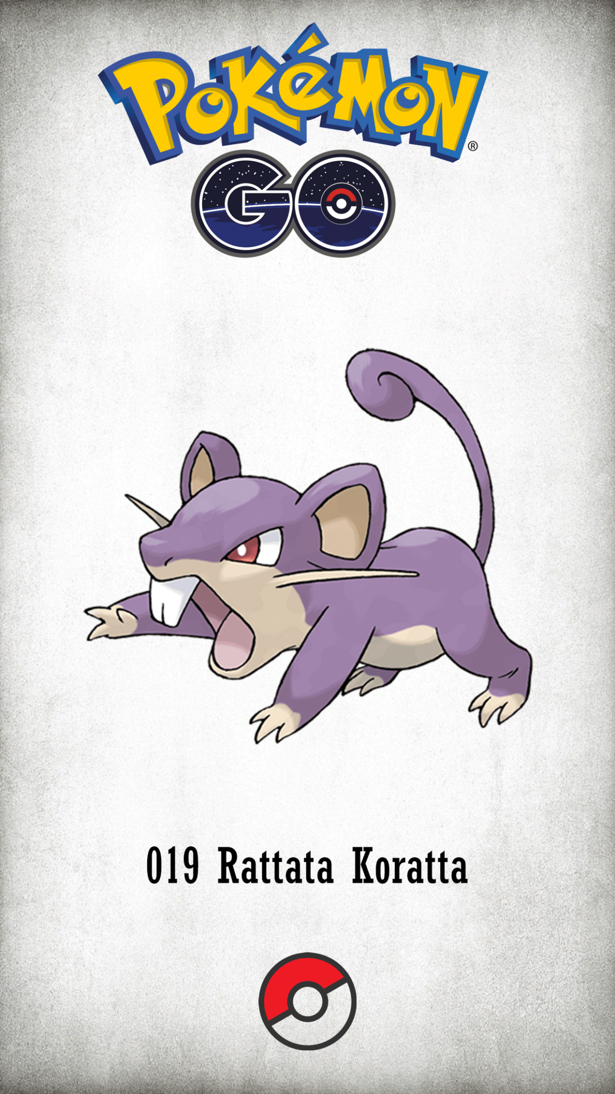 019 Character Rattata Koratta | Wallpaper