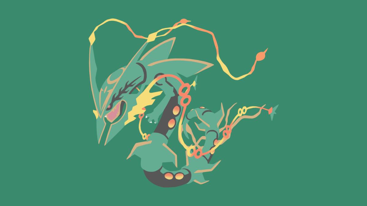 Minimalistic Wallpaper: Mega Rayquaza (#384.1) by MardGeerT on …
