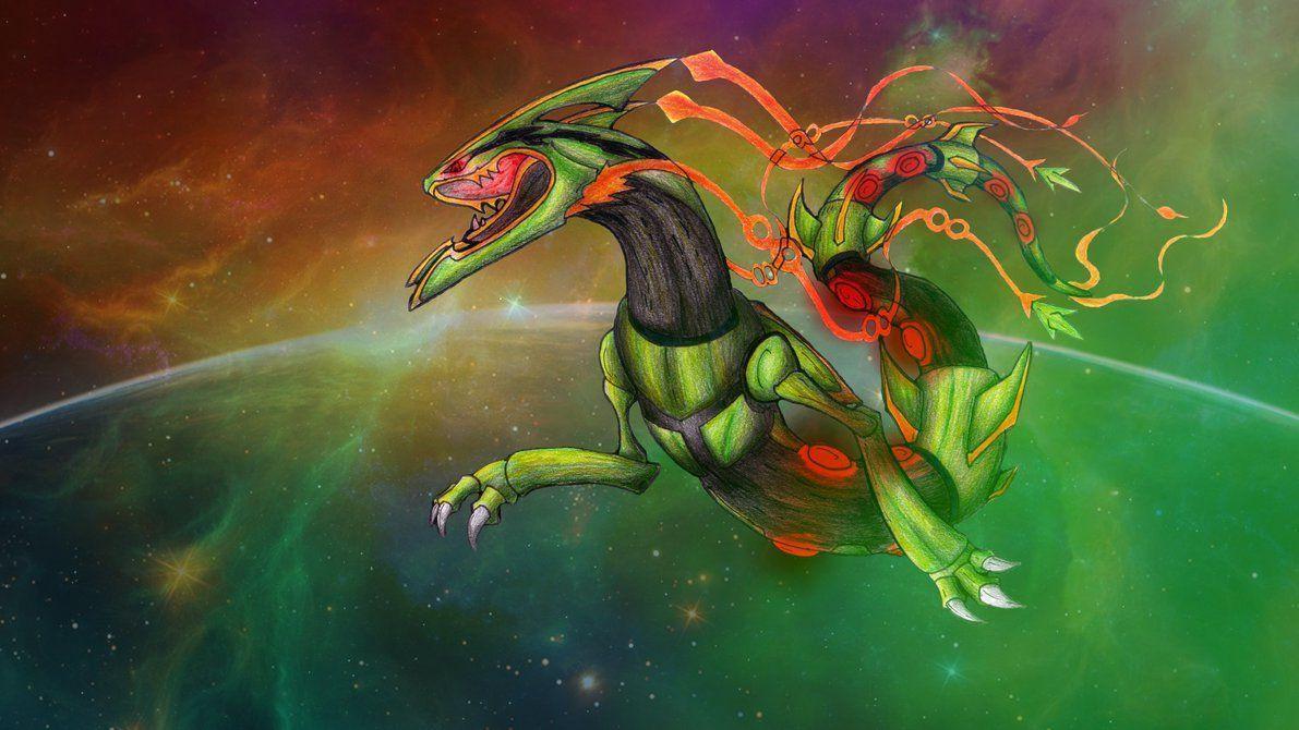Space Roar (Mega-Rayquaza FanArt)-Wallpaper by lululock71 on …
