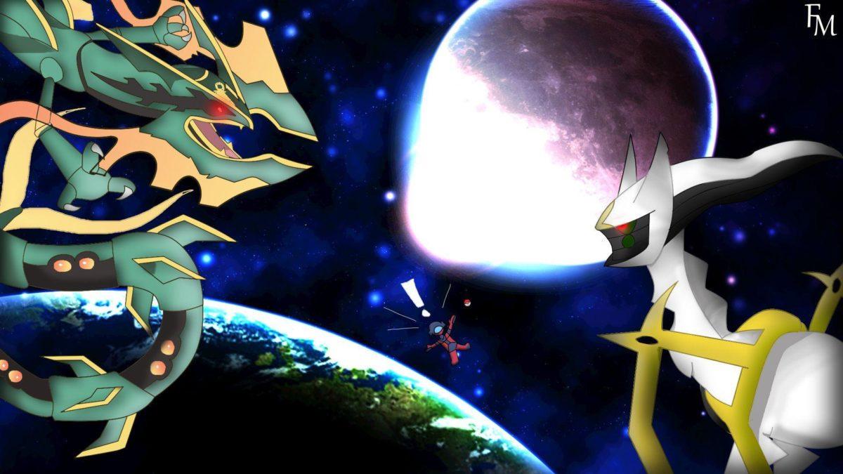 Mega Rayquaza versus Arceus Wallpaper by FyazMostofa on DeviantArt