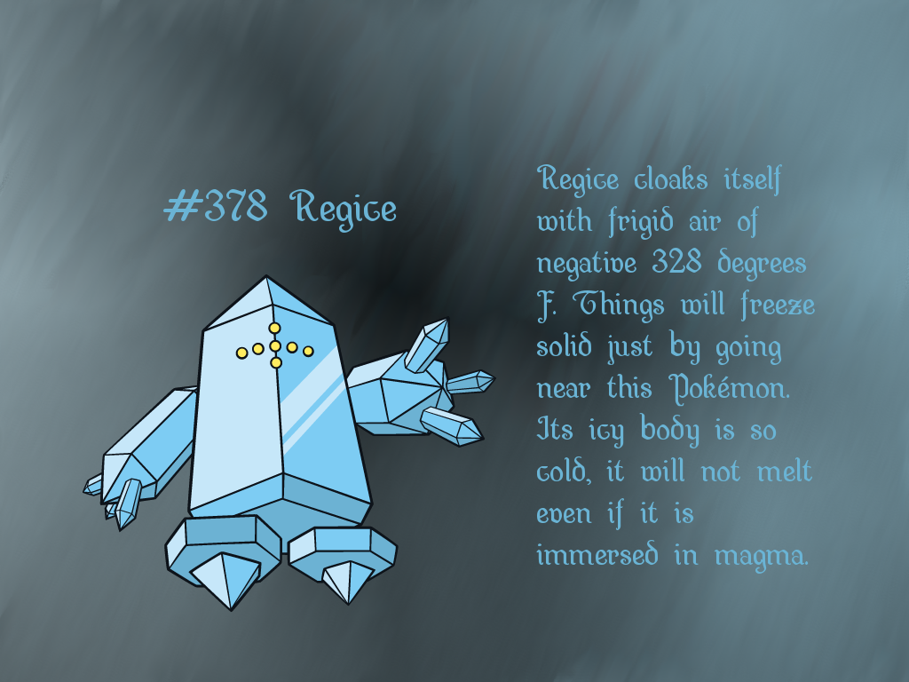 Regice GIMP Wallpaper by Queen-Articuno on DeviantArt