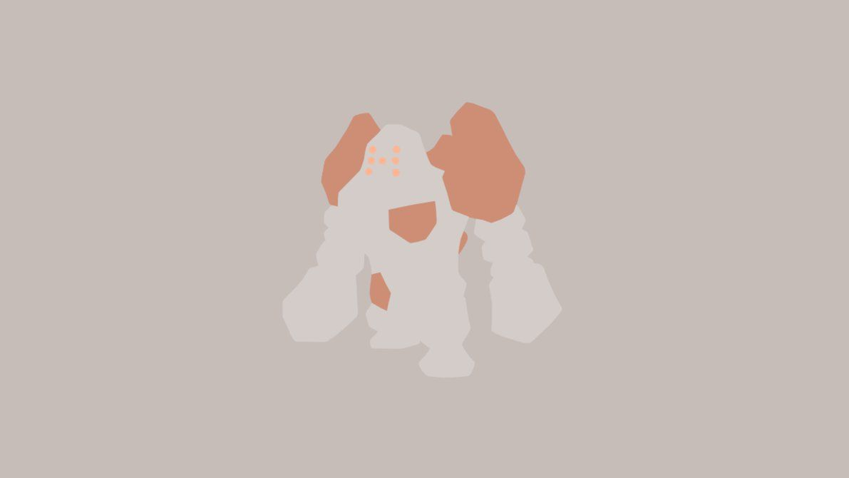 Minimalistic Wallpaper: Regirock (#377) by MardGeerT on DeviantArt