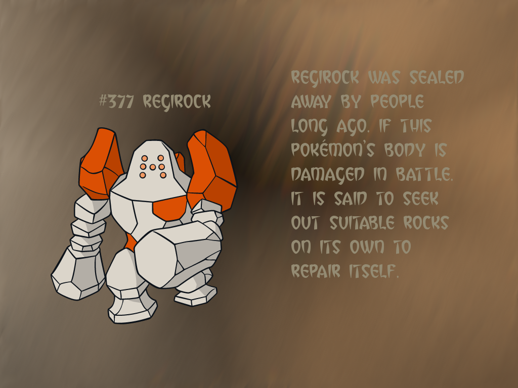 Regirock GIMP Wallpaper by Queen-Articuno on DeviantArt
