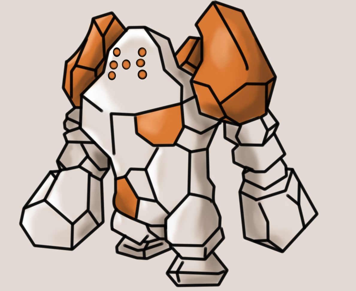 Regirock by Xingle on DeviantArt