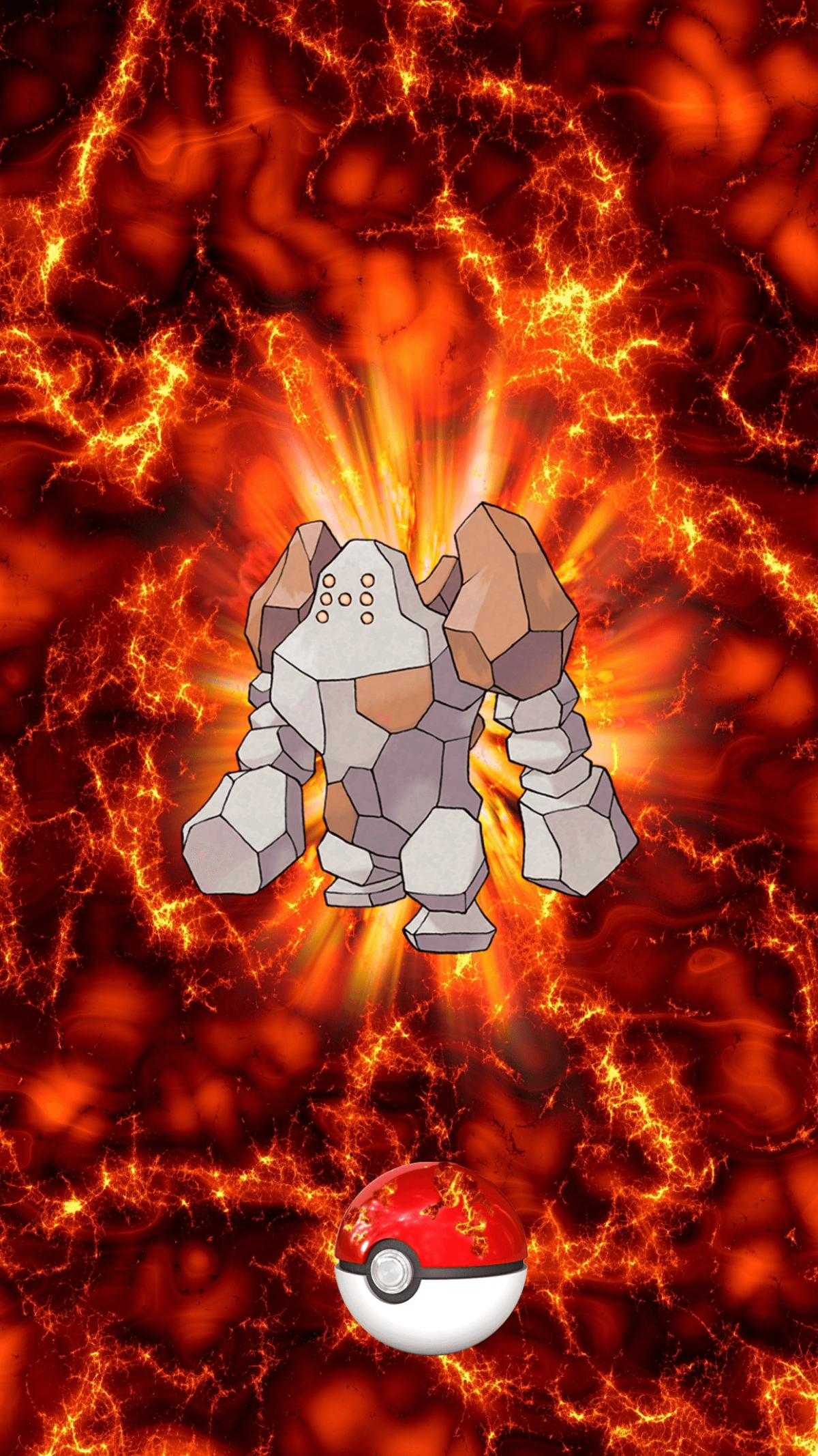 377 Fire Pokeball Regirock Regirock 6 | Wallpaper