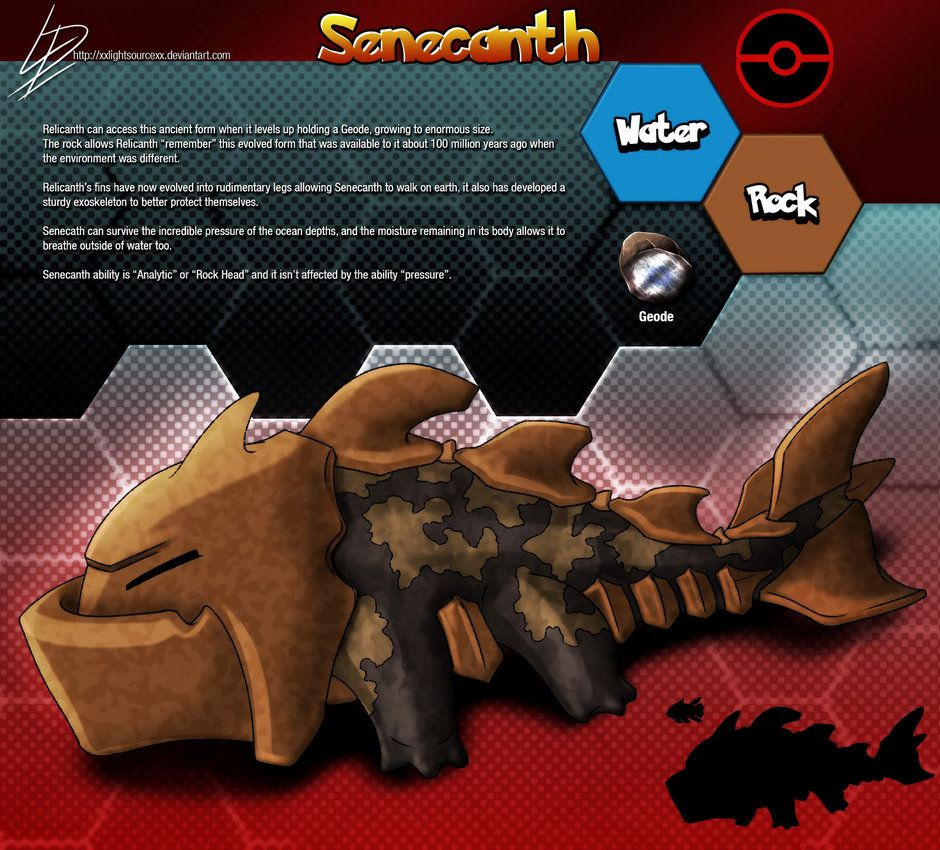 Senecanth- Relicanth fan evolution concept by xXLightsourceXx on …