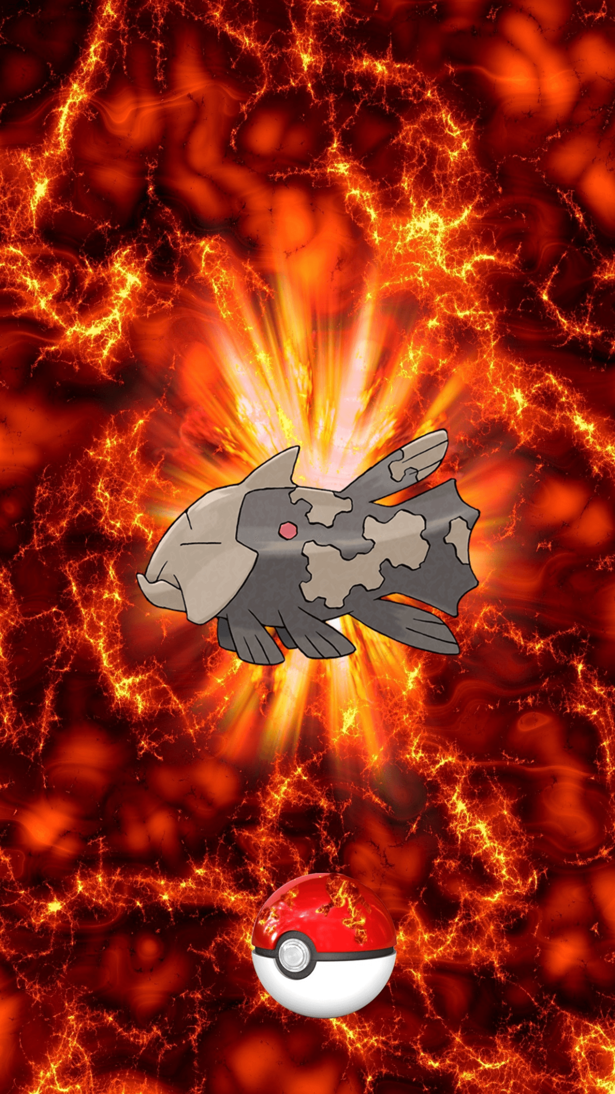 369 Fire Pokeball Relicanth Unknown Egg | Wallpaper