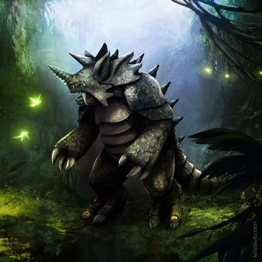 Pokemon Rhydon 112 by KrizEvil on DeviantArt