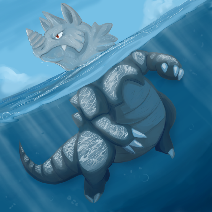 Rhydon used surf by shinyscyther on DeviantArt