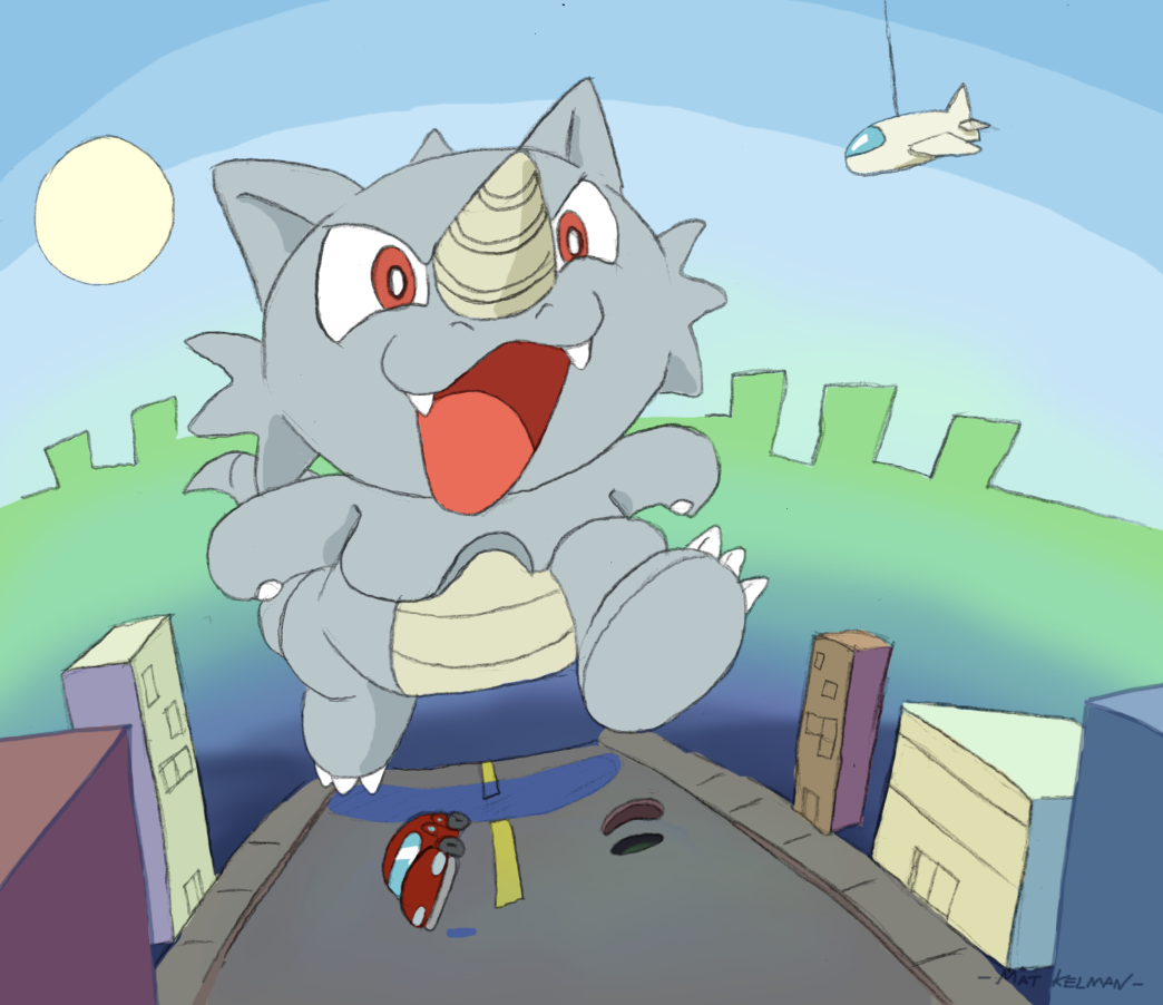 Toon Rhydon by Machu on DeviantArt
