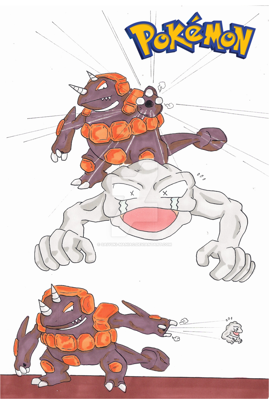 Rhyperior and Geodude Combo by Saiyuki-Maniac on DeviantArt