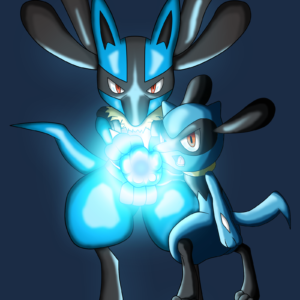download Lucario and Riolu Aura Sphere Colored by JamalC157 on DeviantArt
