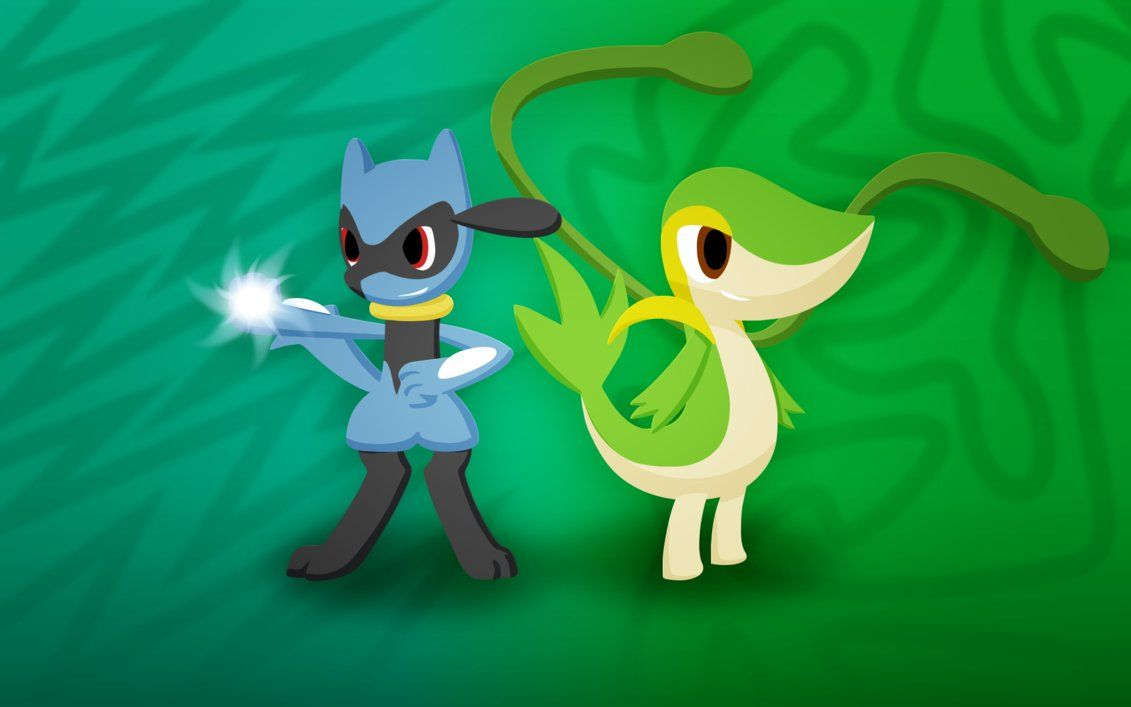Animated Riolu and Snivy wallpaper by Furcik on DeviantArt