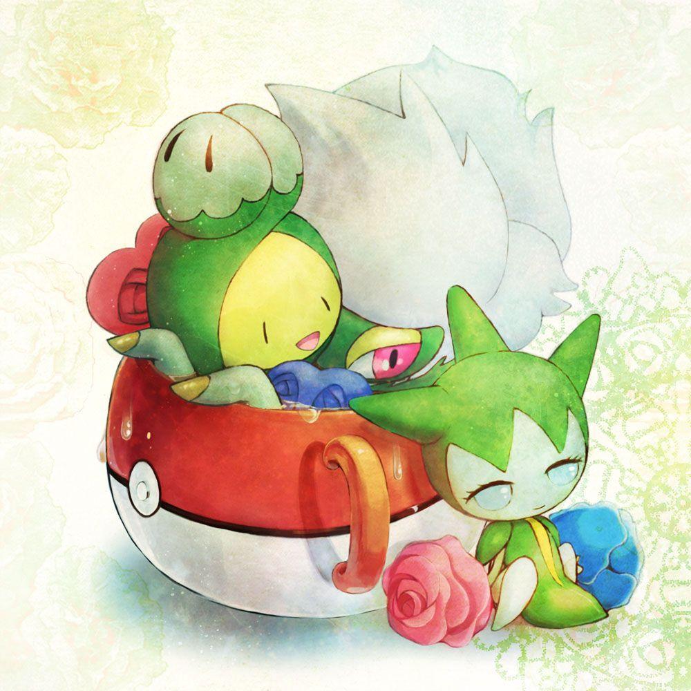 Tags: Fanart, Pokémon, Pixiv, Roselia, Roserade, Budew, Fanart From …