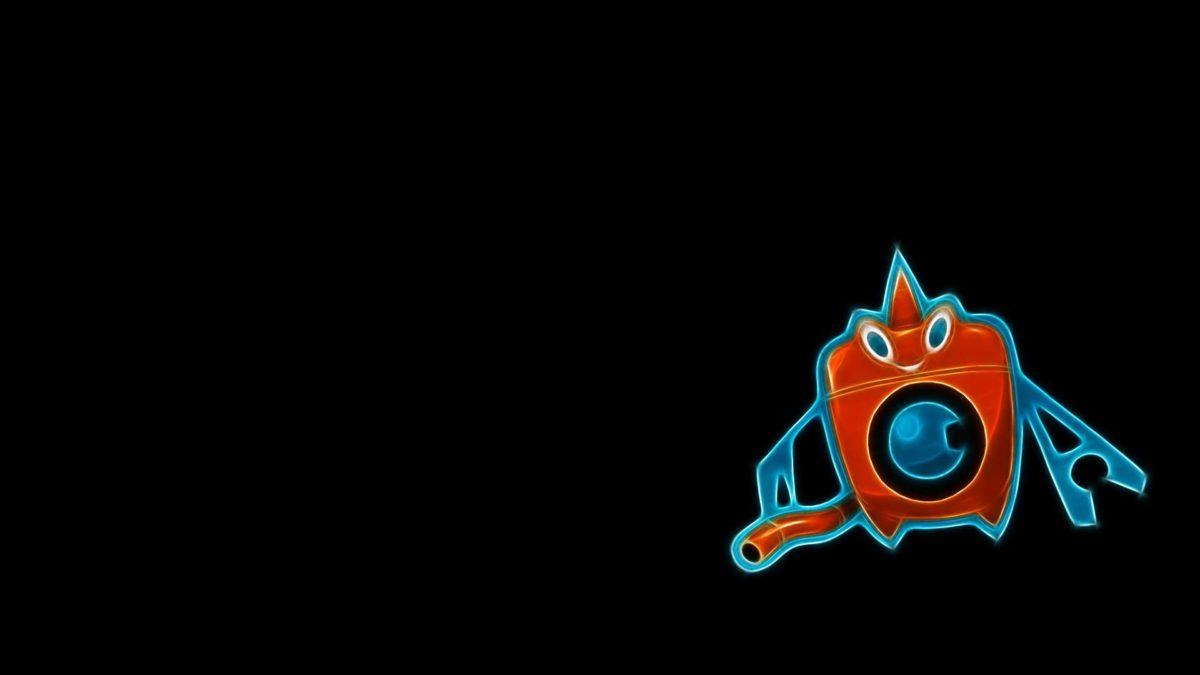 Pokemon rotom wash black background wallpaper   (96337)