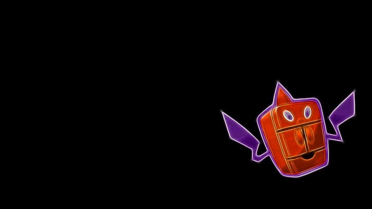 Pokemon rotom black background frost simple wallpaper   (53881)