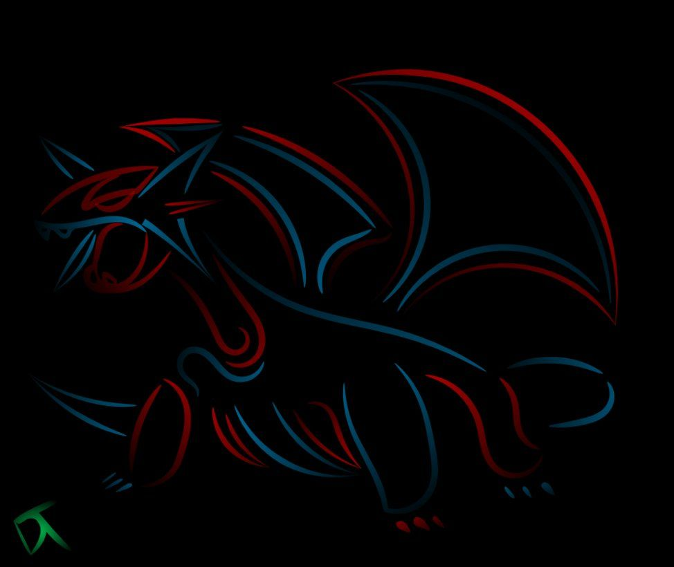 Tribal Salamence Inverted by Shadowy-Skies on DeviantArt