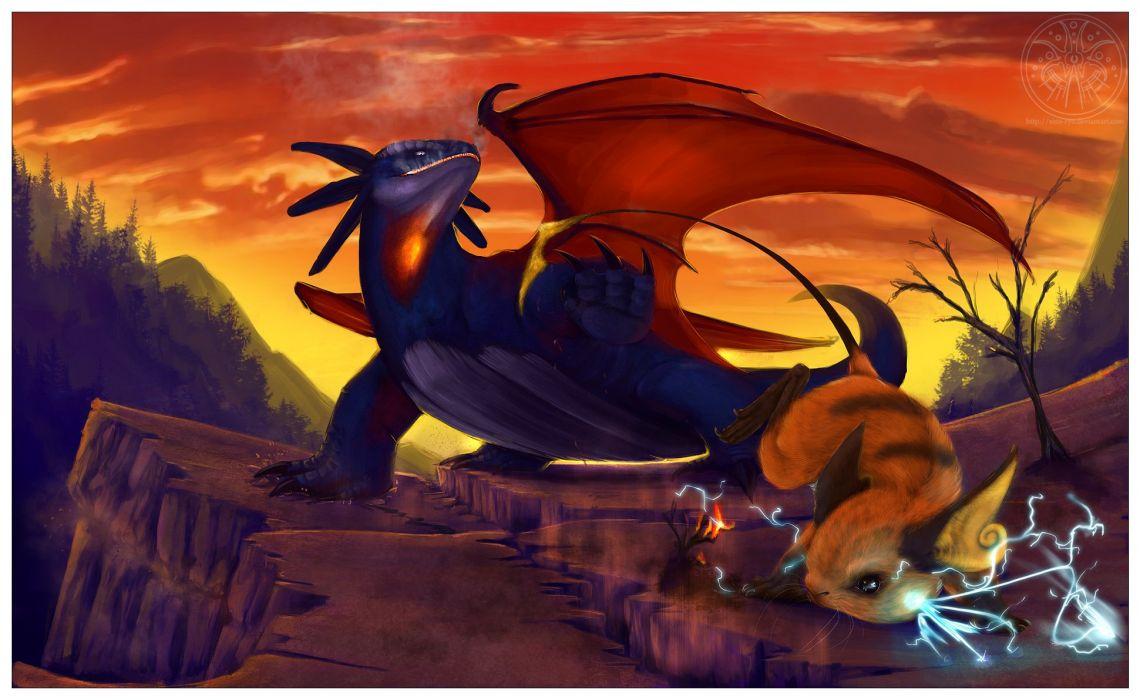 Pokemon dragons Raichu realistic Salamence wallpaper | 1942×1192 …