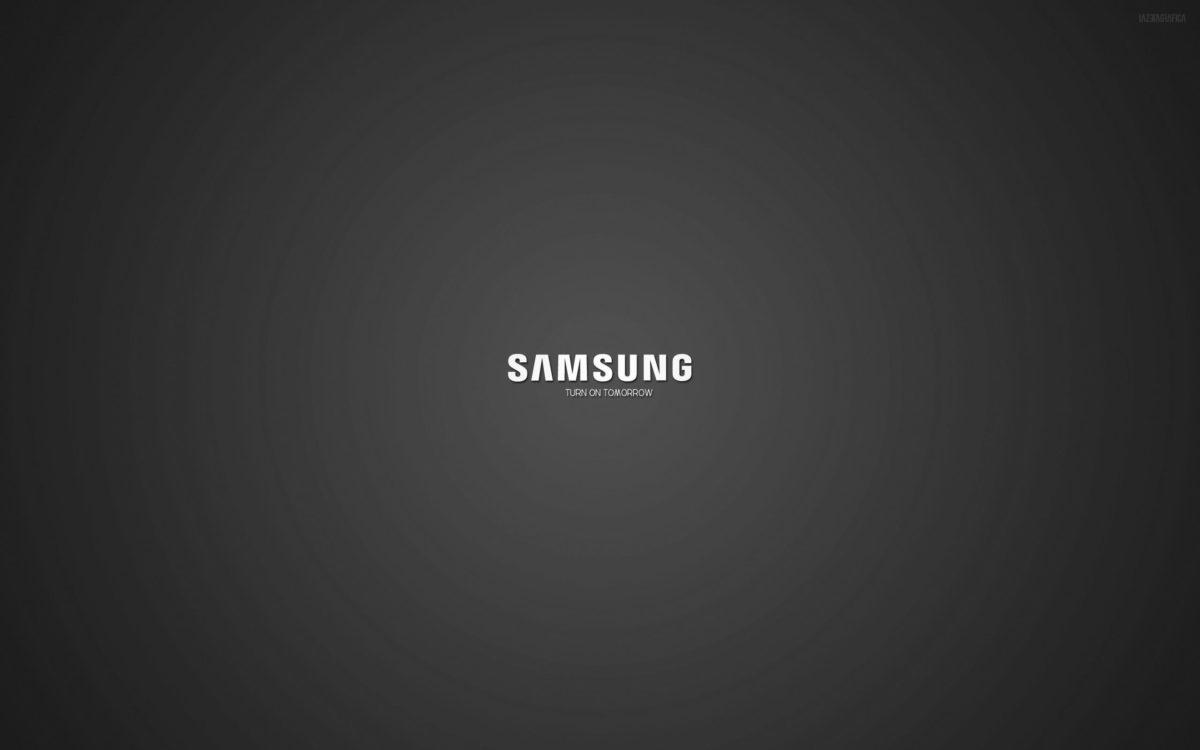 Logos For > Samsung Logo Black Background Wallpaper
