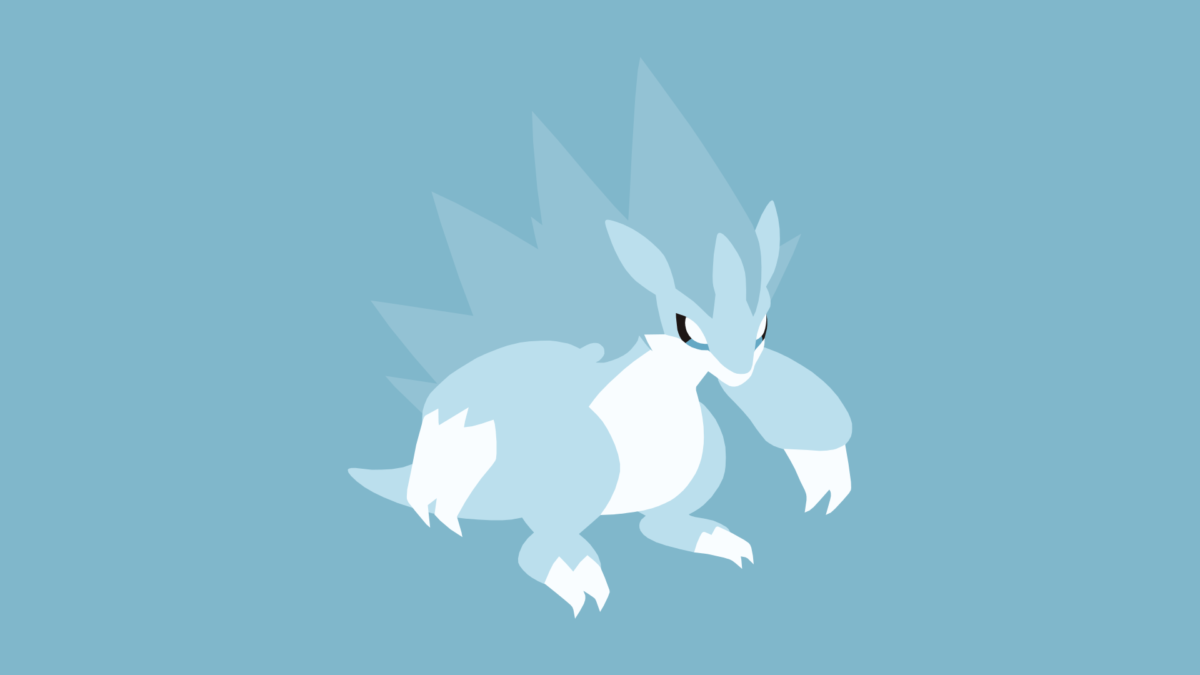 Minimalistic Wallpaper: Alolan Sandslash (#028.1) by MardGeerT on …