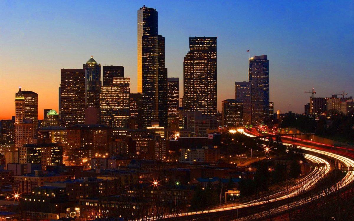 San Francisco at night Wallpaper HD