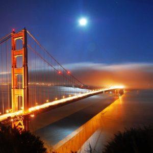 download San Francisco Bridge Night Lights Hd Wallpaper « Travel & World …