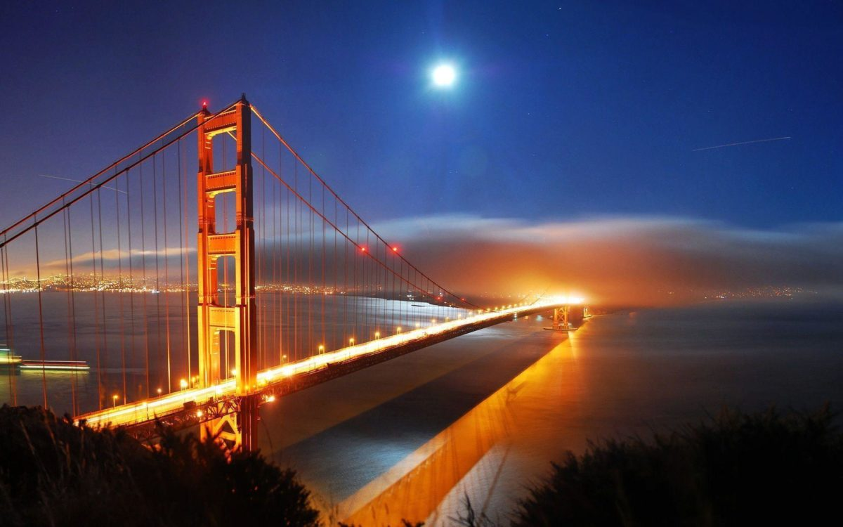 San Francisco Bridge Night Lights Wallpapers | HD Wallpapers