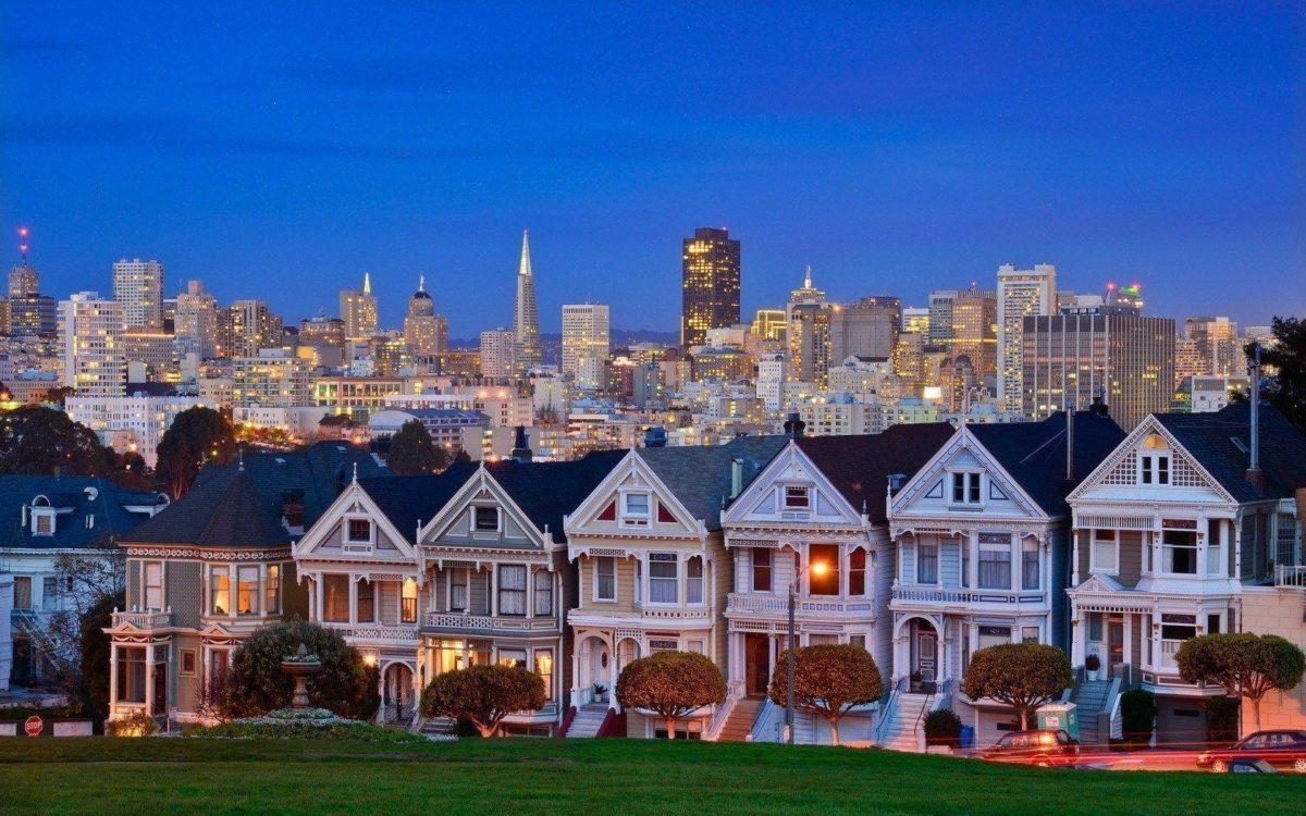 USA California San Francisco Alamo Square HD Wallpaper – FreeHDWalls